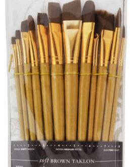 Pintslite komplekt sünteetiline 12tk Brown Taklon Royal & Langnickel