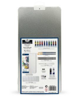 Akrüülmaali Komplekt Plekk-karbis Deluxe