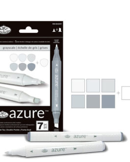 Markerite komplekt Azure hallid toonid 7tk