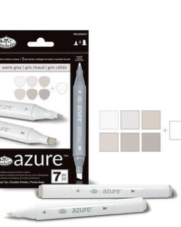 Markerite komplekt Azure soojad hallid toonid 7tk