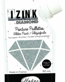 Aladine dekoorvärv Diamond 80ml. hõbe