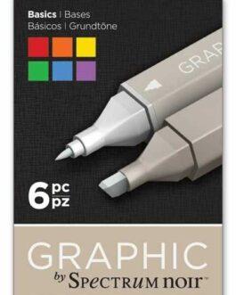 Marker Spectrum Noir Graphic Basics 6tk. (alkoholi baasil)