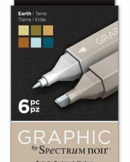Marker Spectrum Noir Graphic Earth 6tk.(alkoholi baasil)