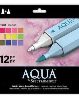 Marker Spectrum Noir Spectrum Aqua Floral (12 tk)