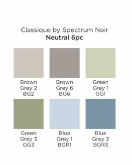 Marker Spectrum Noir Classique (6tk) – Neutral