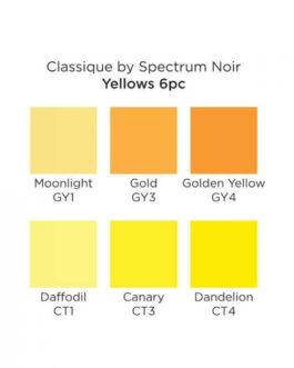 Marker Spectrum Noir Classique (6tk) – Yellows