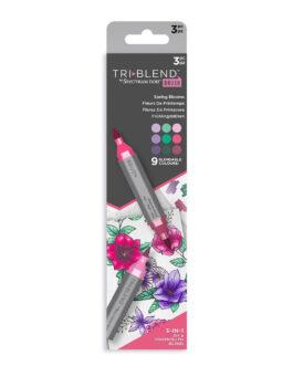 Marker Spectrum Noir Kolm ühes pintselotsaga Spring Blooms 3tk