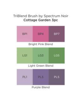Marker Spectrum Noir Kolm ühes pintselotsaga Cottage Garden 3tk