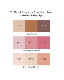 Marker Spectrum Noir Kolm ühes pintselotsaga Natural Tones 3tk