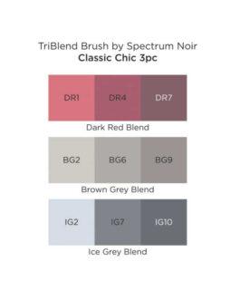 Marker Spectrum Noir Kolm ühes pintselotsaga Classic Chic 3tk