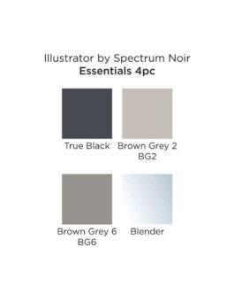 Marker Spectrum Noir Illustrator (4tk) – Essentials